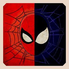 """""""Spider-Man/Black Suit Spider-Man Head Artwork"""" on Behance"""