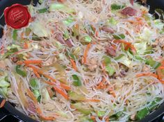 Pancit Bihon is a Filipino dish that Chamorros adopted as their own, fusing ingredients from several cultures as well as using home-grown vegetables. There are many pancit variations. Chamorro Recipes, Chamorro Food, Asian Recipes, Guam Recipes, Ethnic Recipes, Asian Foods, Kitchen Recipes, Cooking Recipes, Pancit Recipe