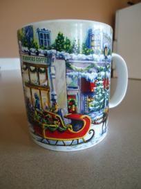 2001 Starbucks Limited Edition Christmas Coffee Mug