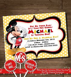 Hey, I found this really awesome Etsy listing at http://www.etsy.com/listing/119438955/huge-selection-mickey-mouse-invitation