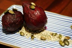 Hungry Female: Sous Vide Recipes: Whole Beetroot with Ginger, Pumpkin Seeds…