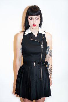 NEW Moto dress Black & White