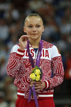 Maria Paseka in the vault EF medal ceremony