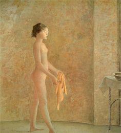 Balthus, Nude in Profile (Nu en profile), 1975.