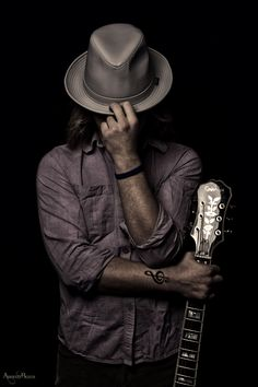 adrienne beacco photography , studio photography , alien bees , strobist , portrait , portrait photography , pose , music photography , band photography , musician , music , band promos , photoshop  , singer , vocalist , performer , tattoo , treble clef , treble clef tattoo , fedora , jake ryan shepard , blues