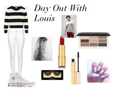"""Day Out With Louis"" by jazzybarrera on Polyvore featuring Yves Saint Laurent, Citizen of Humanity, Converse, Illamasqua, Stila, Isaac Mizrahi and H&M"