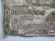 Susan Lenz. Gravestone rubbings quilt.