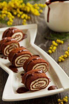 Roulés de crêpes au chocolat fourrées mousse de mascarpone – Les recettes de cuisine et mets