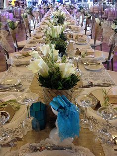 RECEPTION: i just pinned this because of that native basket in the centerpc. This can br put somewhere to good use. Diy Wedding Gifts, Trendy Wedding, Wedding Ideas, Wedding Themes, Wedding Favors, Reception Decorations, Wedding Centerpieces, Centerpiece Ideas, Rose Wedding