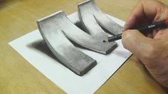 How to Draw 3D Letter M - Drawing with pencil - Trick Art for Kids & Adults - YouTube
