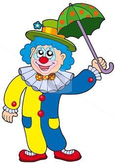 Funny Cartoon Clowns Clipart - Free Clipart