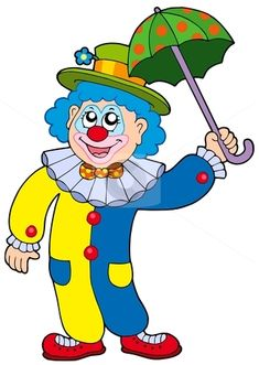 Happy Clown Clip Art | Illustration of a digitally rendered ...