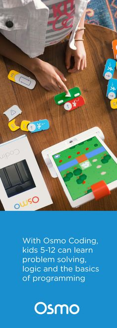 Osmo Coding uses hands-on physical blocks to control Awbie, a playful character who loves delicious strawberries. Each block is a coding command that directs Awbie on a wondrous tree-shaking, strawberry-munching adventure. Learning Activities, Teaching Kids, Kids Learning, Activities For Kids, Crafts For Kids, Stem Science, Science For Kids, Basic Programming, Coding For Kids
