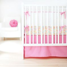 New Arrivals Sweet and Simple Crib Bedding Set, Hot Pink, 3 Piece  http://www.babystoreshop.com/new-arrivals-sweet-and-simple-crib-bedding-set-hot-pink-3-piece/