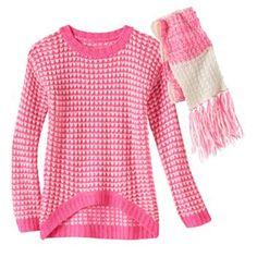 Poof Girl Sweater & Scarf - Girls 7-16