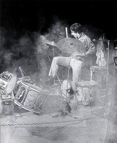 Keith Moon kickin'out the jams at Monterey