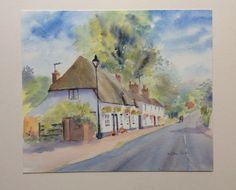 Original watercolour on Fine Art paper Saunders Waterford  with Fine Art paint Winsor Newton    Size of the painting : 30.3cm x 25.7 cm    For sale UNFRAMED. Just the work on paper.  Will be sent on strong backing, insured, first class