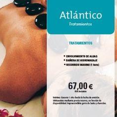 Bono Atlántico (*) de rebajas, ahora por $52.50€ con bañera de hidromasaje Península, envolvimiento en algas y circuito de talasoterapia #goodideas!