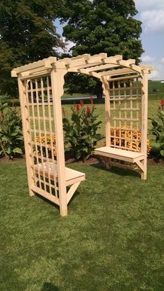 The most awesome Garden bench Arbor Ideas 4776490328 Garden Archway, Garden Arbor, Garden Trellis, Small Garden Bench, Outdoor Garden Bench, Backyard Projects, Garden Projects, Arbor Bench, Jardin Decor