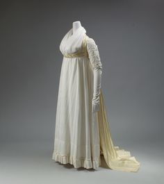 1795-1797, United Kingdom - Dress - Silk, cotton
