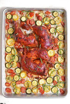 Sheet Pan BBQ Chicke