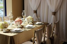 Our August Showcase is Kaitlyn from Special Event Rentals. She designed a charming table for our showroom.