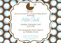 Baby Boy Baby Shower Invitation Custom Printable Baby by cohenlane, $8.00