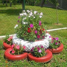 9 Creative DIY Tire Planter Ideas to Upgrade Garden View # and Exterior