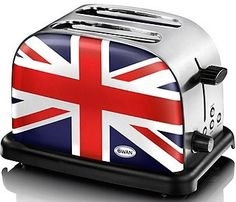 union jack toaster! So, I had to throw in a little cheese (cheddar of course!), but in all seriousness this is actually a pretty classy item!