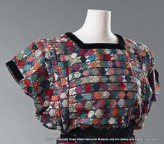 huipil - A woven blouse like this has been worn in Central America by women for hundreds of years. The colour of the weave with additional embroidered designs allow observers to identify where it  was made. - Royal Albert Memorial Museum & Art Gallery, Exeter