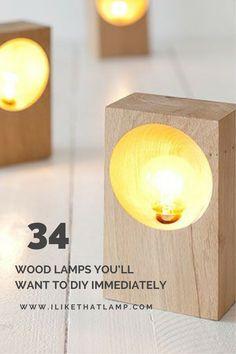 132 best diy wooden lamp ideas images light design diy lamps rh pinterest com