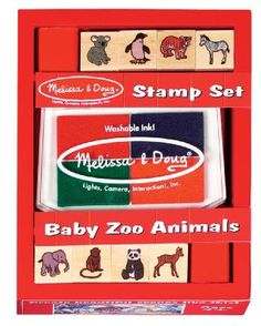 Baby Zoo Animals Wooden Stamp Set at theBIGzoo.com, a toy store that has shipped over 1.2 million items.