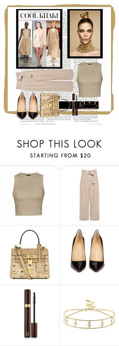 """Top 10 Trend: Khaki"" by lupeobera ❤ liked on Polyvore featuring Ally Fashion, A.L.C., MCM, Christian Louboutin, Tom Ford, StreetStyle, NYFW, trend and khaki"