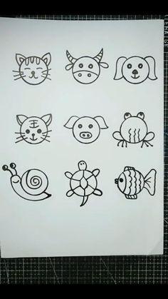 Easy Drawings For Kids, Art Drawings Sketches Simple, Pencil Art Drawings, Doodle Drawings, Drawing For Kids, Doodle Art, Cute Drawings, Art For Kids, Easter Drawings
