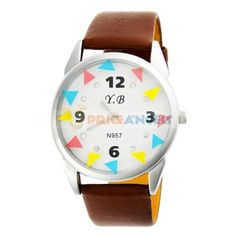 Round Numeral Dial Brown PU Leather Strap Analog Watch for Women Brown Leather Strap Watch, Pu Leather, Urban Chic, Different Colors, Watches, Accessories, Women, Women's, Clocks