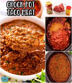 This Crock Pot Taco Meat has just 3 ingredients and makes the perfect base to all of your taco flavored recipes! Easy and so flavorful!