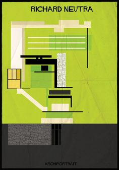 Richard Neutra   Famous Architects Illustrated In The Style Of Their Buildings - Federico Babina