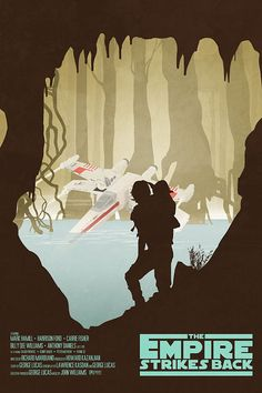 Favori  Vous aimez cet article ?    Ajoutez-le à vos favoris pour le retrouver plus tard.  Star Wars Inspired Original Trilogy Limited Edition The Empire Strikes Back, Rare 27x40 similar to Olly Moss