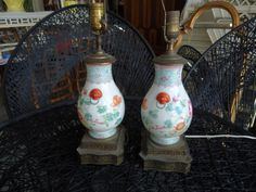 Vintage Petite Chinoiserie Lamps