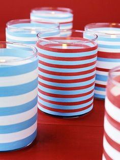 It's a Snap- rubber bands to decorate votives