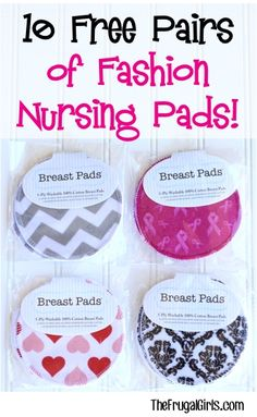 10 FREE Pairs of Reusable Nursing Pads! {just pay s/h} ~ pick your favorite pattern or mix and match different nursing pad patterns!  {these make great gifts for the Mom to Be, too!} | TheFrugalGirls.com