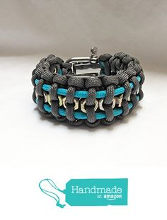 Men's paracord bracelet charcoal gray ~ chunky jewelry ~ hex nuts from grey llama https://www.amazon.com/dp/B01GIGRJ0S/ref=hnd_sw_r_pi_dp_IKRLxbYV7KF4V #handmadeatamazon