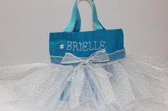 Princess Tote Bag  Tutu Bag  Personalized Blue by UrbanThreader