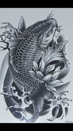 koi tattoo design - Tattoos And Body Art Koi Dragon Tattoo, Pez Koi Tattoo, Koi Tattoo Sleeve, Carp Tattoo, Dragon Tattoo Designs, Koi Fish Tattoo Forearm, Tatto Koi, Koy Fish Tattoo, Dragon Koi Fish