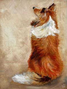 "Collie Dog Art ""Waiting for treats"" by Karen Robinson Rough Collie, Collie Dog, Animal Paintings, Animal Drawings, Funny Dog Faces, Funny Illustration, Shetland Sheepdog, Claude Monet, Dog Portraits"