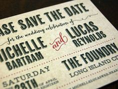 """The """"Michelle and Lucas"""" Save the Date from Designer Fine Press """"Promise"""" collection is sure a fun one for a rustic outdoors event."""