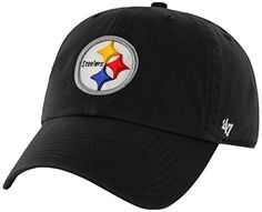 NFL Pittsburgh Steelers Clean Up Adjustable Hat, Black, One Size Fits All Fits All