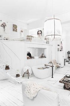 scandi-boho style, scandiboho interiors, interior trends 2017, italianbark interior design blog, total white