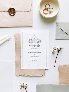 Save the Date with Venue Illustration by Amethyst WH | things i drew