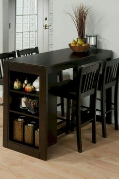 Stunning Small Dining Room Table Furniture Ideas - Page 51 of 56 Dinning Table Design, Dinning Room Tables, Dinning Table Small, Small Dining Table Apartment, Dining Rooms, Compact Dining Table, Bar Dining Table, Kitchen Furniture, Table Furniture